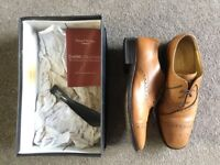 Men's Tan Leather Cheltenham style shoes size 8 1/2uk