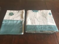 Double duvet set cotton/ satin with embroidery & sequins (cover & 2 pillow cases)