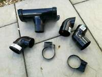 Round gutter / downpipe parts connectors