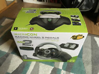 XBOX 360 Madcatz MC2 Wired Steering Wheel and Pedals