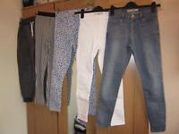 Topshop joggers/leggings/jeans, left to right