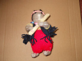 New Hand Knitted Hippy Flute Playing Hamster
