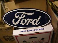 FORD OVAL DECORATIVE TIN SIGN $30.00 GARAGE MAN CAVE EX++
