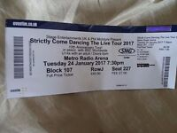 Strictly come dancing the live tour 2017 ticket