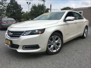 2014 Chevrolet Impala LT PEARL WHITE CLOTH/LEATHER INTERIOR BIG