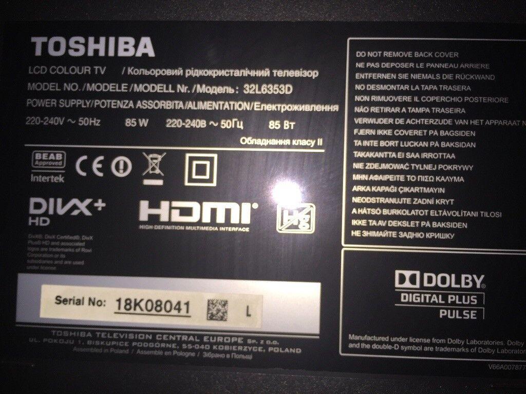 TV toshiba 32L6353D