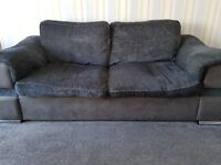 3 seater, cuddle chair and storage foot stool