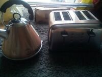 Copper kettle and toaster
