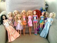 Barbie & Disney Bundle Of 10 Dolls