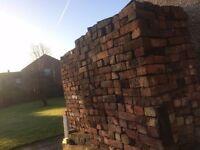 "Reclaimed Cheshire Brick 3"" cleaned 50p per brick or £700 for 1500 bricks"