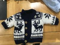 baby boys snow suits / cardigan