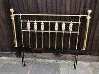 Antique Brass headboard double