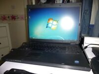 Dell Large 17 inch Laptop, Fast Dual Core CPU, And Mains Charger