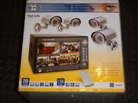 """DVR7S NEW 4 x CCTV Colour Cameras with 7"""" TFT SCREEN 4-channel digital recorder + 250gb hard disk"""