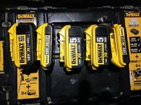 Dewalt batteries x5