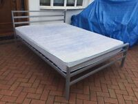 5FT KINGSIZE bed with mattress - metal solid frame // free delivery to 10 miles