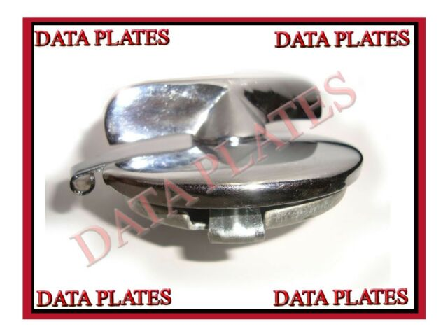 "NEW WING NUT HINGED CHROME PLATED 3"" FUEL TANK CAP LID BSA M20 NORTON TRIUMPH"