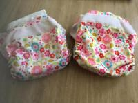 9 reusable washable pocket birth to potty nappies