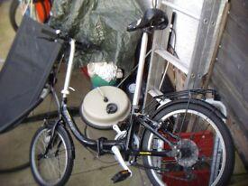 black apollo centour folding bike another one too