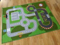 Children's car track rug