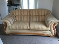 Beautiful Large 2 seater sofa and 2 chairs