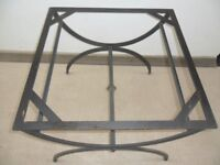 WROUGHT IRON & SLATE GARDEN TABLE