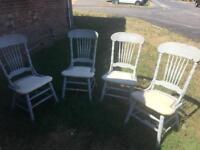 4x antique wooden kitchen/ dinning chairs