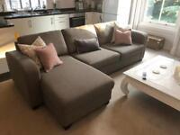 DFS Grey Corner Sofa - Lydia