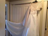 Beautiful off white and taupe Wedding Dress