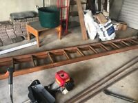 16 Foot Wooden Ladders with extension