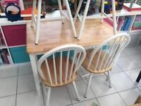 White Pine Dunelm Dining Set Table & 4 Chairs