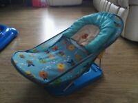 Baby Bather Blue Travel Bath Support Seat Chair Newborn