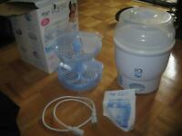 AVENT bottle steamer and single bottle warmer