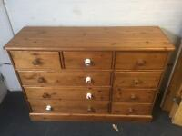 Pine Chest of Drawers Large