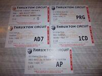 thruxton weekend ticket for B S B