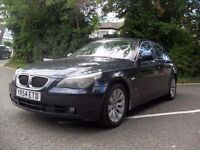 BMW 5 Series 2.5 525d SE 4dr , 3 months warranty , Blue , Leather seats , great car