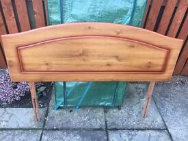 Double Bed, Pine Head Board - Great Condition