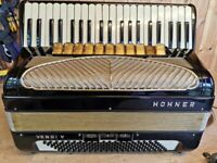 Hohner Verdi V, 4 Voice Musette (LMMM), 120 Bass, Piano Accordion. Lessons Available.