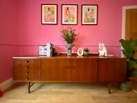 Price reduced! Stunning mid century Meredew sideboard with in-built drinks cabinet