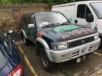 Toyota hilux surf spares or repair £900 3.0 turbo 1994 Jap import starts and drives no MOT no tax