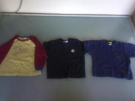 DKNY, IKKS & Bebe Bonito Boy's T Shirts - Size 12 Months - x3