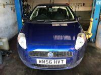 Breaking for parts Fiat-Grande-Punto-Active-05-09,5-Door blue, colour 599/A