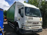 DAF 55 220 CURTAIN SIDE TRUCK WITH FULL SIZE TAIL LIFT 2004 MOT FEB 2018 ALL IN GOOD WORKING ORDER