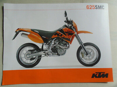 KTM 625 SMC motorcycle brochure c2002 English text