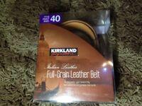 Kirkland Signature Italian Leather Belt
