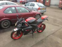 ha r125 with sport exhaust