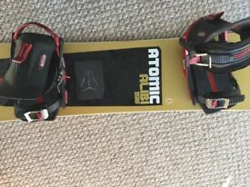 Atomic Alibi 156 snowboard and bindings