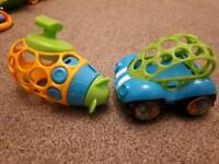 oball car and water toy