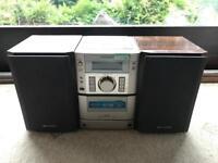 Sharp Cassette Deck and Speaker Set