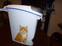 slimline cat litter storage container